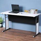 《Homelike》巧思辦公桌 炫灰系列-白色加厚桌面140cm