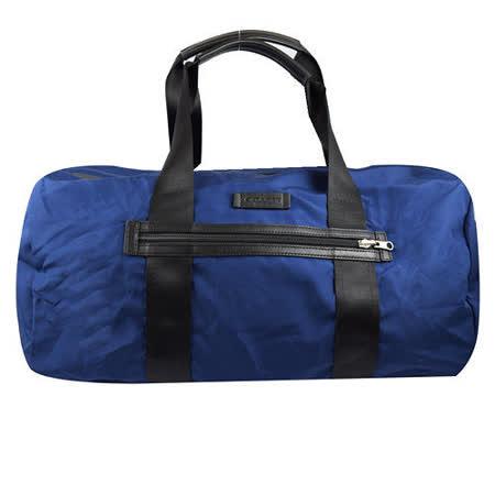 COACH 簡約素雅尼龍可折疊大旅用波士頓包.藍