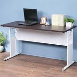 《Homelike》巧思辦公桌 亮白系列-胡桃加厚桌面140cm