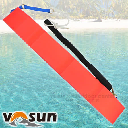 【VOSUN】台灣製 新款專業 EVA不吸水發泡魚雷浮標(承重100kg)救生圈.救生條 2936 紅