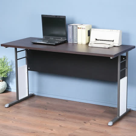 《Homelike》巧思辦公桌 炫灰系列-胡桃加厚桌面140cm