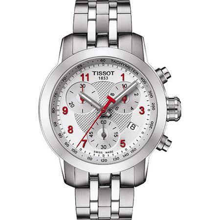 TISSOT T-Sport PRC200 亞運會特別版三眼計時腕錶-銀 T0552171103200