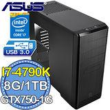 華碩Z97平台【黑銀絕劍】Intel第四代i7四核 GTX750-1G獨顯 1TB燒錄電腦