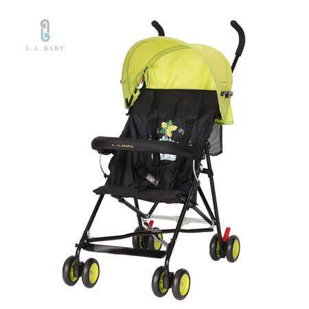 L.A. Baby 美國加州貝比 亮彩輕便嬰兒手推車(亮彩綠)