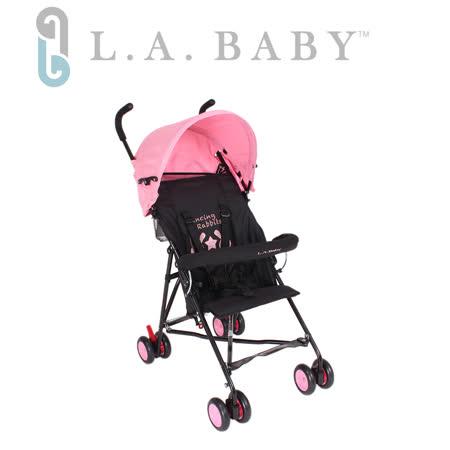 L.A. Baby 美國加州貝比 亮彩輕便嬰兒手推車(桃紅色)
