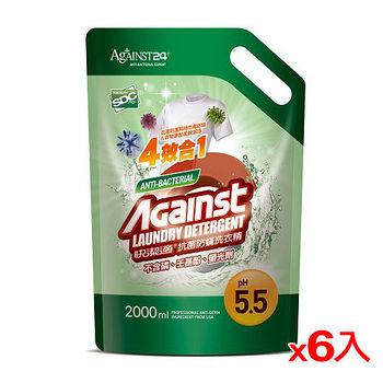 快潔適抗菌防滿洗衣精補充包2000ml*6(箱)