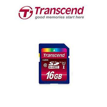 《Transcend創見》 UHS-I Class10 SDHC 16GB 記憶卡 UHS-I Class10 SDHC 16GB