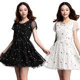 【麗質達人中大碼】3533甜美小禮服(二色)