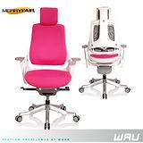 【Merryfair】WAU時尚運動款機能電腦椅(OA布)-桃紅白框