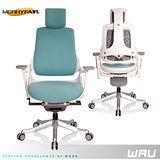 【Merryfair】WAU時尚運動款機能電腦椅(OA布)-湖藍白框
