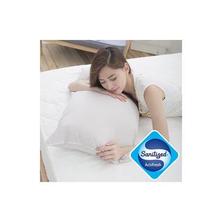 【Sanitized 山寧泰】防蟎抗菌竹炭機能纖維枕(1入)