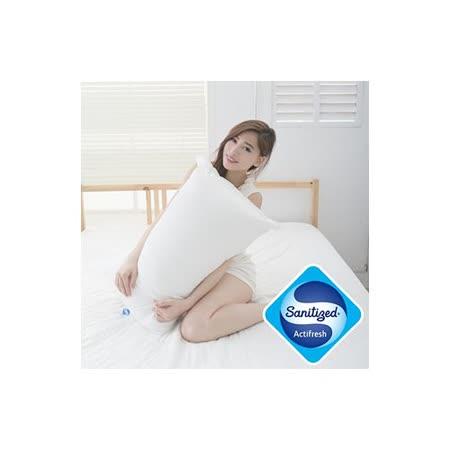 【Sanitized 山寧泰】防蟎抗菌四孔透氣纖維枕(1入)
