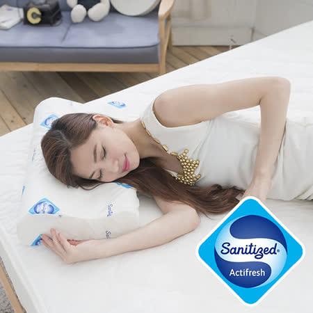 【Sanitized 山寧泰】防蟎抗菌釋壓舒眠記憶枕(2入)