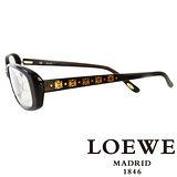 LOEWE 西班牙皇室品牌羅威經典LOGO平光眼鏡(黑) VLW749-0958