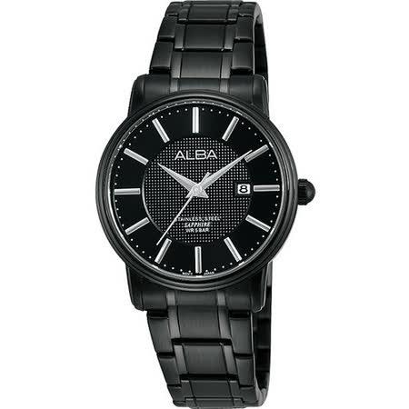 ALBA PRESTIGE 爵士時尚女錶-IP黑 VJ22-X157SD