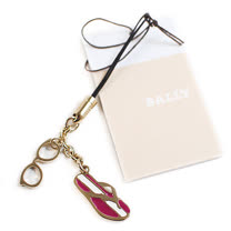 BALLY 6148433 新款 眼鏡拖鞋造型手機吊飾(紅)