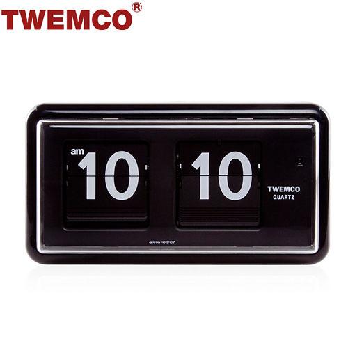 ~TWEMCO~機械式 翻頁鐘 復古收藏 方形可壁掛及桌放 ^(QT~30 黑色^)