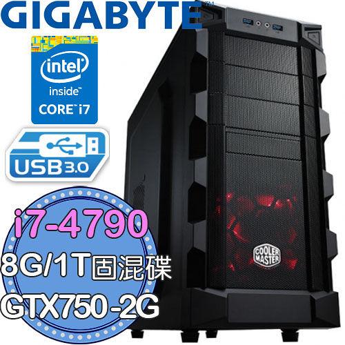 技嘉Z97平台【霸影逃殺】Intel第四代I7四核 GTX750-2G獨顯 1TB固混碟 燒錄電腦