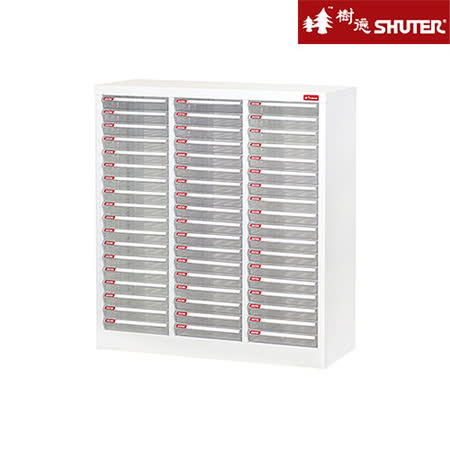 【SHUTER樹德】A4十八層三排雪白資料櫃(54低抽)