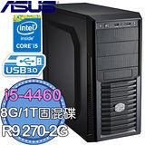 華碩Z97平台【迅影翔步】Intel第四代I5四核 R9 270-2G獨顯 1TB固混碟 燒錄電腦