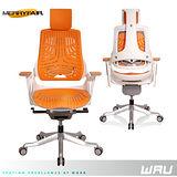 【Merryfair】WAU時尚運動款機能電腦椅(TPE)-芒果橘背白框