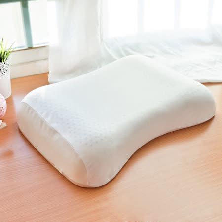 【LooCa】全波型天然乳膠舒眠特大枕1入