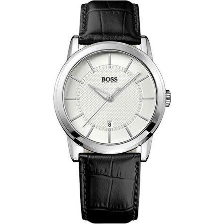 Hugo Boss 紳士家德式復刻腕錶-銀/黑 H1512625