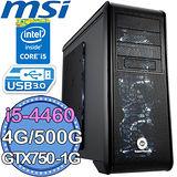 微星Z97平台【不朽戰吼】Inatl第四代I5四核 GTX750-1G獨顯 500G燒錄電腦