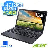 Acer E5-572G-73QW 15.6吋 i7-4712MQ四核心 Win8.1 獨顯高效能筆電 (黑)