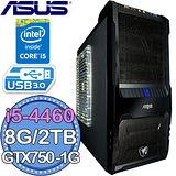 華碩B85平台【鮮血狂怒】Intel第四代I5四核 GTX750-1G獨顯 2TB燒錄電腦