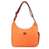 Longchamp 豔彩繽紛斜背包-粉橘色