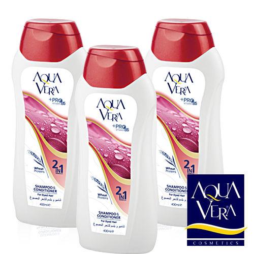 AQUAVERA 土耳其原裝進口洗髮精(燙染髮專用) 400ml 3入組