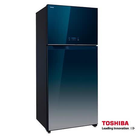 TOSHIBA東芝554L二門玻璃鏡面ECO節能系列冰箱 GR-WG58TDZ(GG)+送基本安裝
