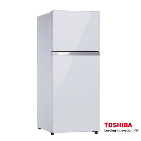 TOSHIBA東芝359L玻璃鏡面二門ECO節能系列冰箱GR-TG41TDZ+送基本安裝