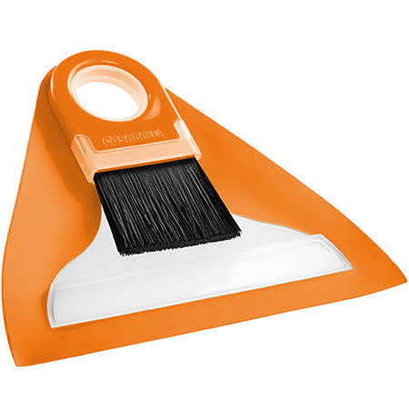 《CASABELLA》桌面掃把+畚箕(橘mini)