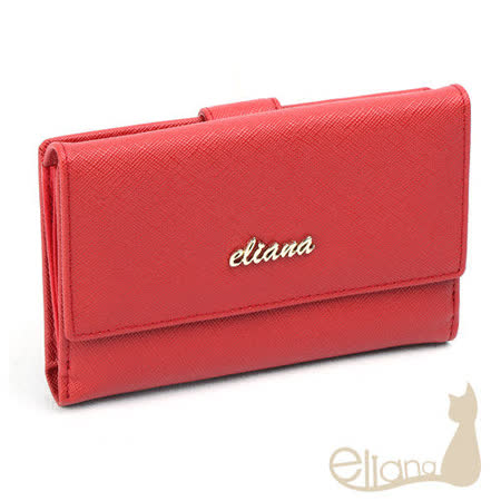 eliana - Amore系列11卡雙層中夾(甜莓紅)EN122W06RD