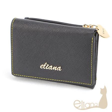 eliana - Amore系列六卡短夾(明星黑)EN122W09BK