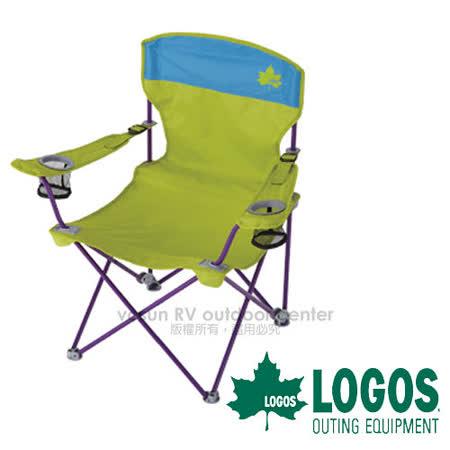 【日本 LOGOS】RECLINING高背兩段椅 (耐重100kg).折疊椅/綠 73172006
