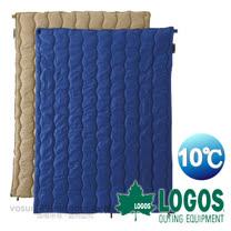 【日本 LOGOS】10℃ 2合1丸洗化纖睡袋組/中空纖維填充.可機洗_藍 72600670
