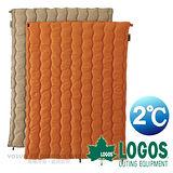 【日本 LOGOS】2℃ 2合1丸洗化纖睡袋組/中空纖維填充.可機洗_黃 72600680
