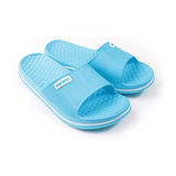 晶亮菱格紋室外拖鞋(水藍)