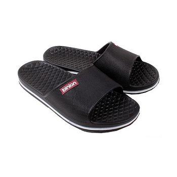 晶亮菱格紋室外拖鞋(黑)