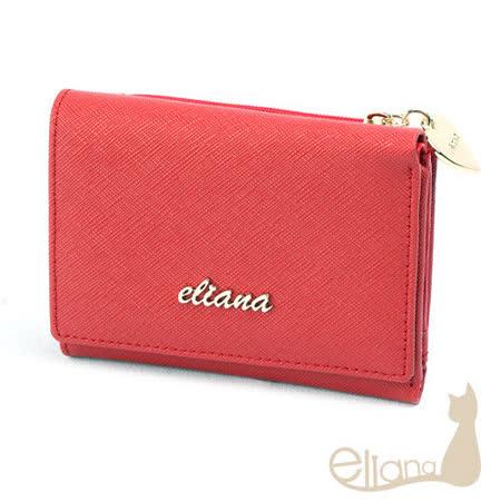 eliana - Amore系列六卡短夾(甜莓紅)EN122W09RD