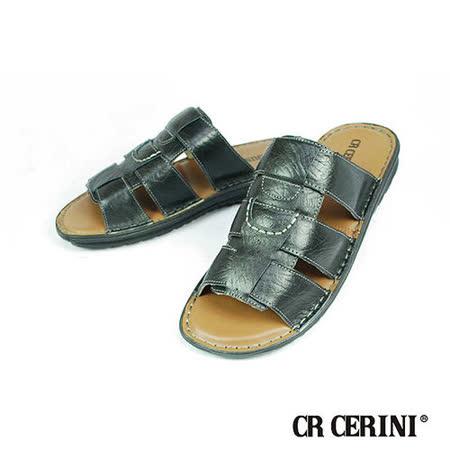 【CR CERINI】鞣製皮革拖鞋(40161-BL)