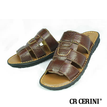 【CR CERINI】鞣製皮革拖鞋(40162-DBR)