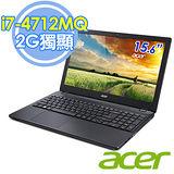 Acer E5-572G 15.6吋 i7-4712MQ 四核 2G獨顯 筆電–升級8G記憶體,送收納箱+清潔組
