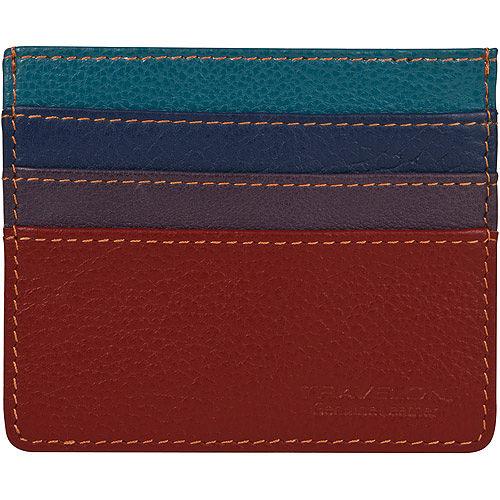 《TR高雄 大 遠 百 美食 餐廳AVELON》拼色真皮防護證件卡夾(紅)