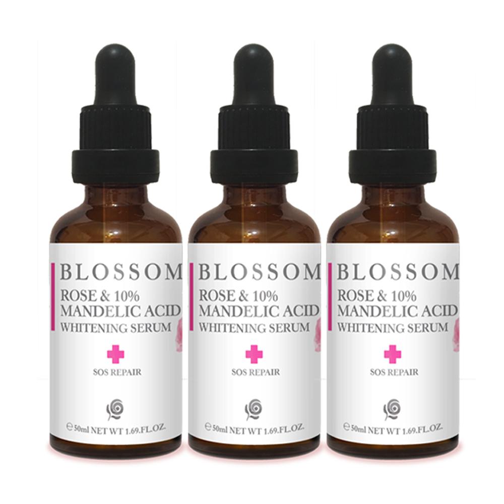 【BLOSSOM】玫瑰杏仁酸10%煥膚淨白保濕露(50ML/瓶)*3入組