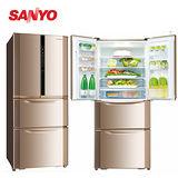 SANYO三洋 551公升變頻四門電冰箱 SR-A551DVF 送安裝+康寧餐盤組+LED手電筒