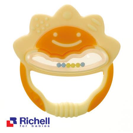 Richell日本利其爾 固齒器-橘黃色一般型(盒裝)